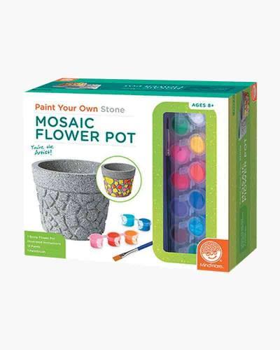 Paint Your Own Stone Mosaic Flower Pot Activity Kit