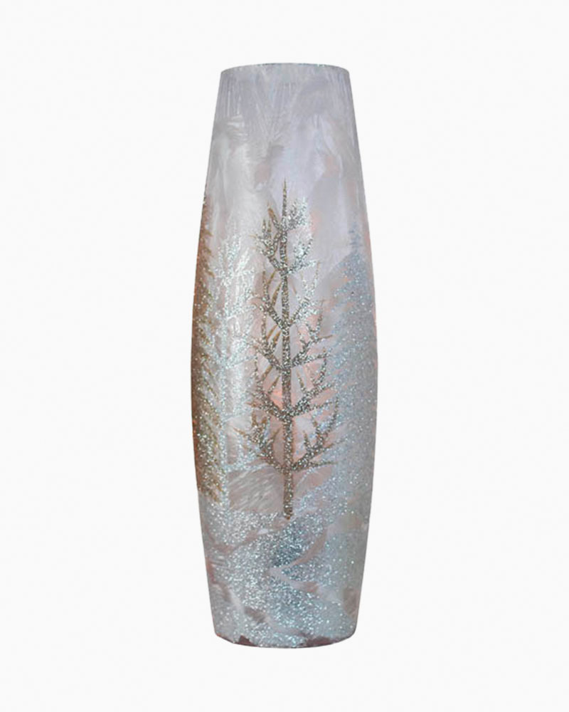 Stoney Creek Winter Scene Light-Up Tall Vase