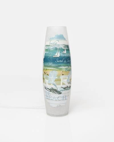 Tall Shoreline Light-Up Vase