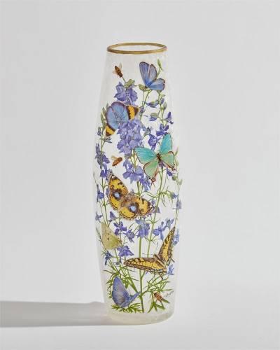 Butterflies Light Up Tall Vase