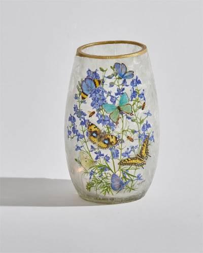 Butterflies Light Up Short Vase