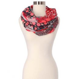 Lava Accessories Paisley Dots Infinity Scarf