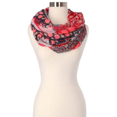 Paisley Dots Infinity Scarf