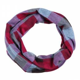Lava Accessories Magenta Plaid Infinity Scarf