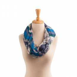Lava Accessories Striped Paisley Infinity Scarf
