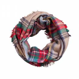 Lava Accessories Plaid Infinity Scarf