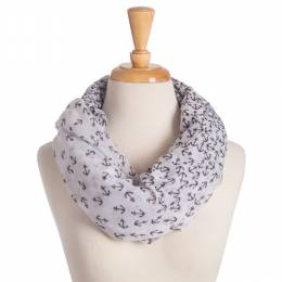 Lava Accessories Anchor Print Infinity Scarf