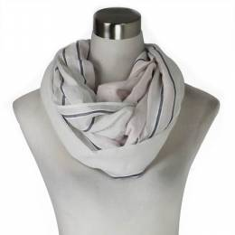 Lava Accessories Pink Modern Stripe Infinity Scarf