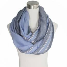 Lava Accessories Modern Classic Stripe Infinity Scarf in Blue