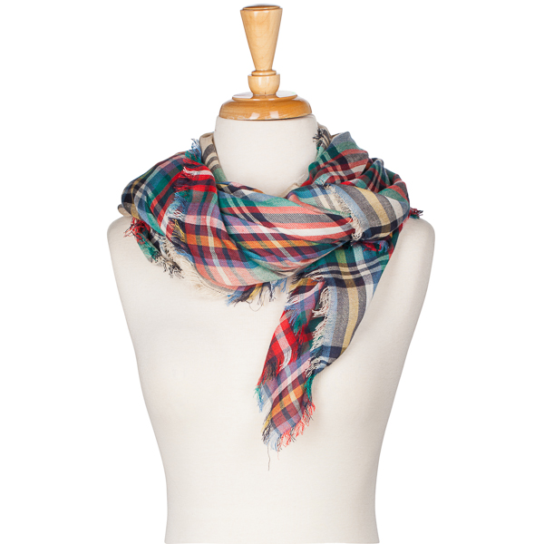 Lava Accessories Beige Plaid Blanket Scarf