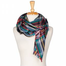 Lava Accessories Plaid Blanket Scarf in Black