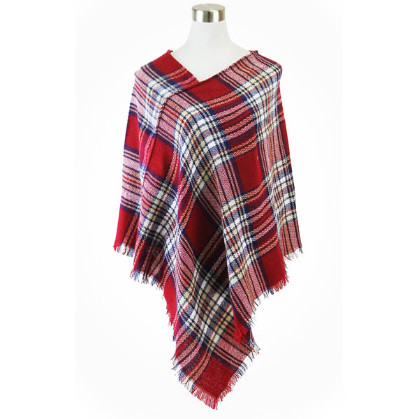 Lava Accessories Plaid Square Blanket Scarf