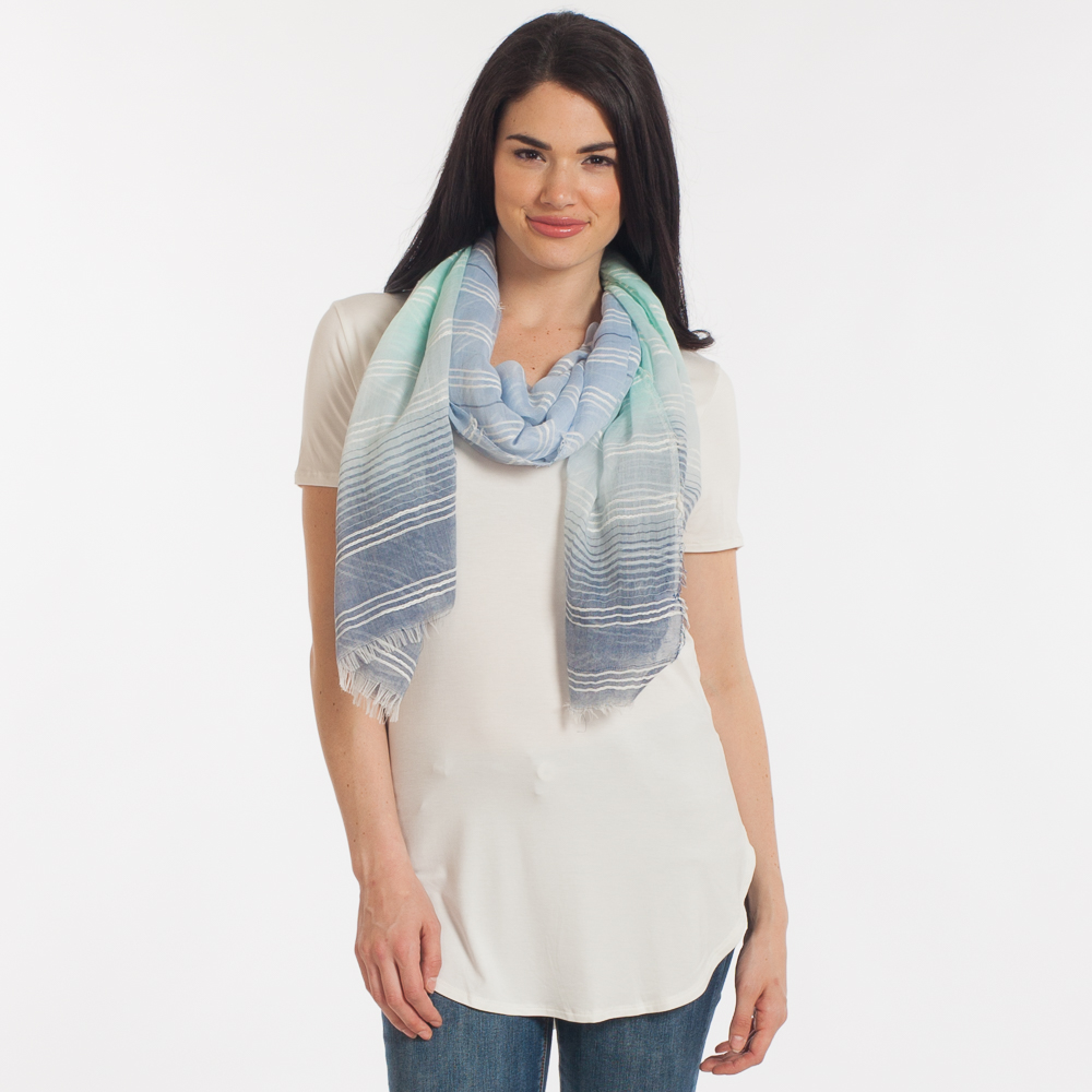 Lava Accessories Ombre Mint Stripe Scarf