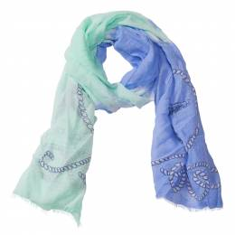 Lava Accessories Nautical Pattern Scarf in Blue and Green