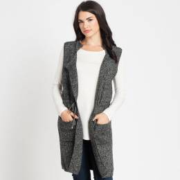 Lava Accessories Heather Grey Knit Sweater Vest