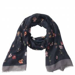 Lava Accessories Lightweight Floral Scarf in Black