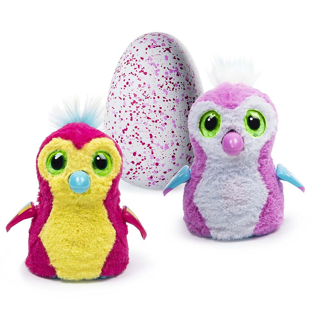 Hatchimals Pengualas Pink Egg Hatching Plush