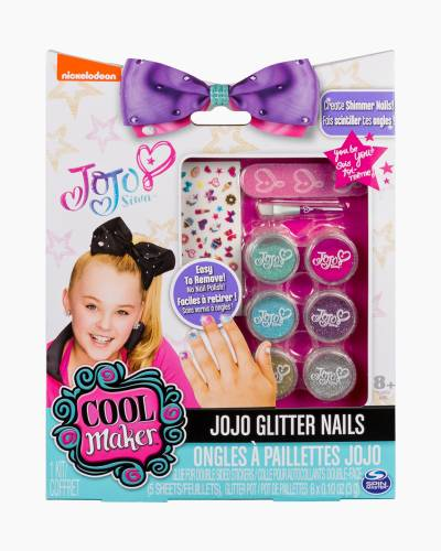JoJo Siwa Cool Maker Glitter Nails Manicure Kit