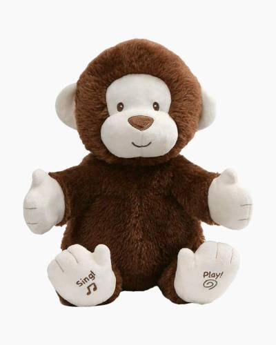 Animated Clappy Monkey Stuffed Animal (12 in.)
