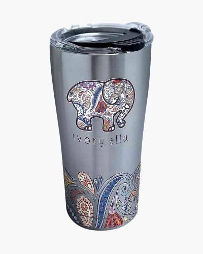 Ivory Ella Zen Doodle Elephant 20 oz. Stainless Steel Tumbler by Tervis