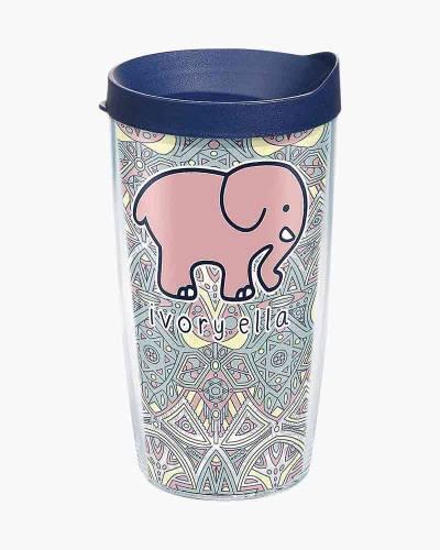 Ivory Ella Mosaic Elephant 16 oz. Tumbler by Tervis