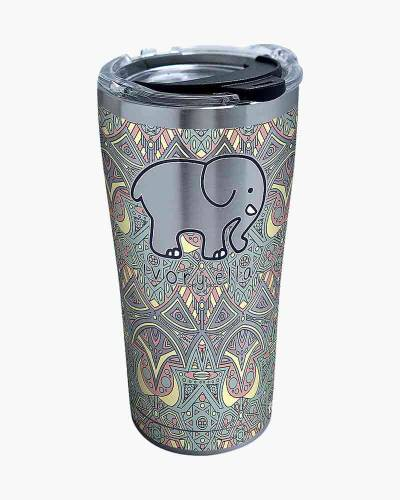 Ivory Ella Mosaic Elephant 20 oz. Stainless Steel Tumbler by Tervis