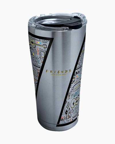 Friends Pattern Stainless Steel Tumbler with Lid (20 oz.)