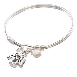 The Paper Store Angel Charm and Pearl Hook Bangle