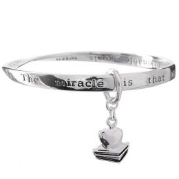 The Paper Store Silver Teacher Bangle with Prayer Card