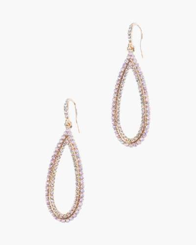 Crystal Long Teardrop Earrings