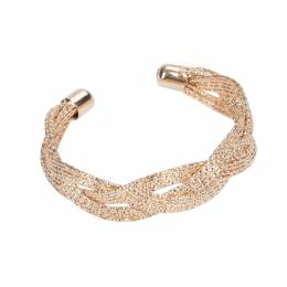 The Paper Store Gold Braided Cuff Bracelet