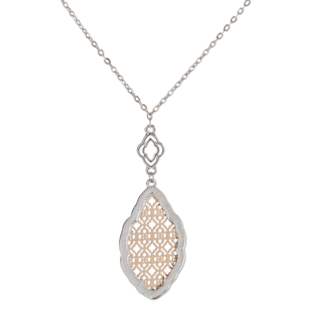 Mia and Tess Two-Tone Filigree Necklace