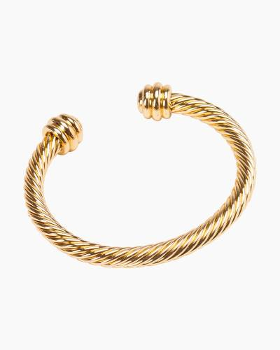 Twisted Cuff Bracelet in Gold