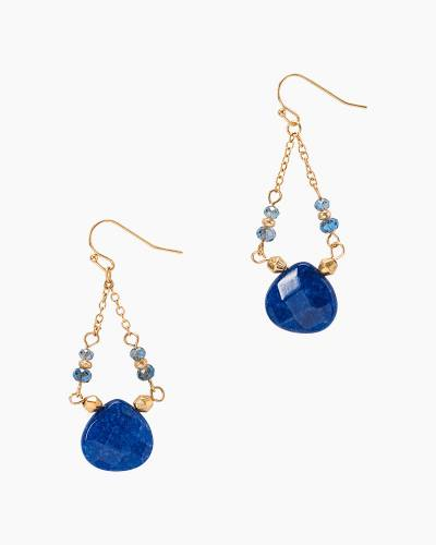 Stone Trapeze Earrings in Blue