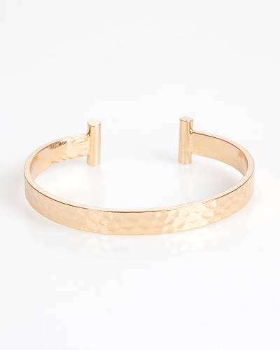 Exclusive Hammered Cuff in Gold