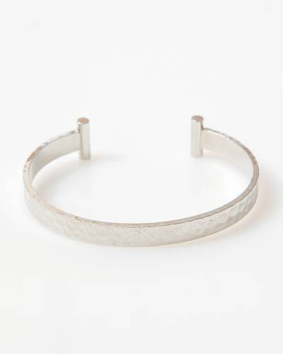 Exclusive Hammered Cuff in Silver