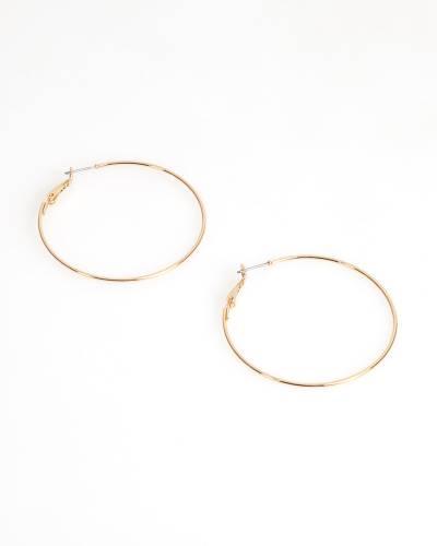 Classic Thin Hoop Earrings in Gold