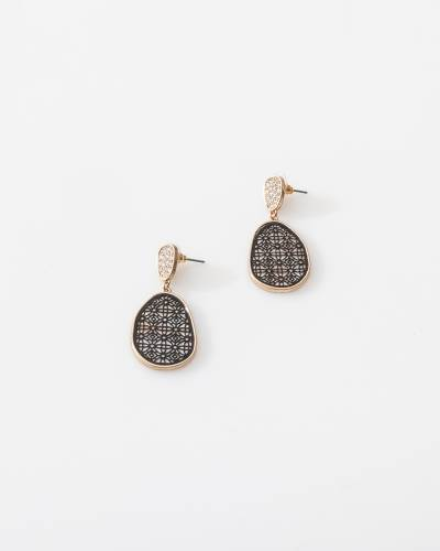 Gold Mother of Pearl Filigree Earrings