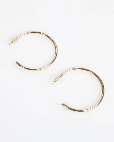 Exclusive Open Hoop Earrings in Gold