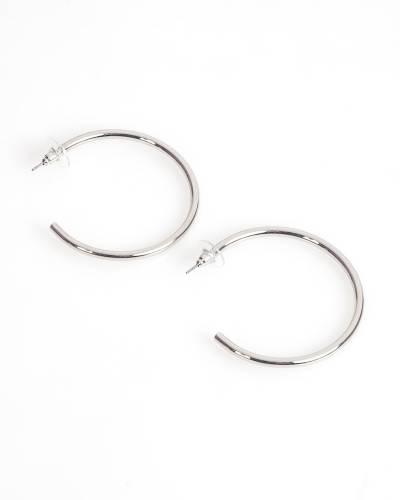 Exclusive Open Hoop Earrings in Silver