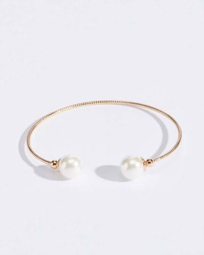 Pearl End Twist Bracelet
