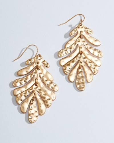 4-Tier Leaf Drop Earrings