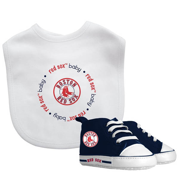 Baby Fanatic Boston Red Sox Bib and Baby Shoes Set
