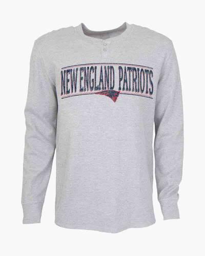 New England Patriots Men's Huddle Long Sleeve Henley Top