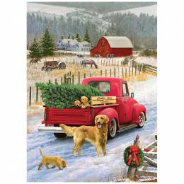 Outset Christmas on the Farm Jigsaw Puzzle (1,000 pc)