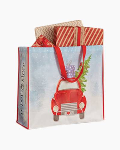 Large Red Truck Red Recyclable Shopper Tote