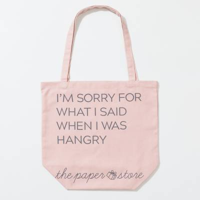 EXCLUSIVE What I Said When I Was Hangry Tote Bag