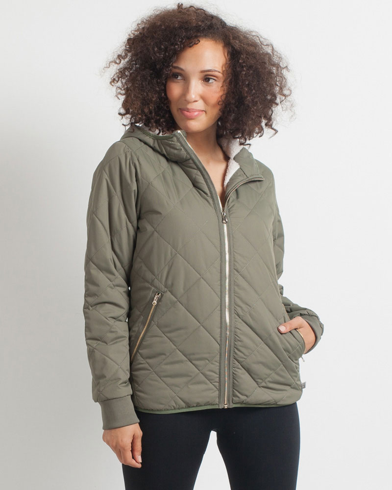 Avalanche Olive Quilted Jacket The Paper Store