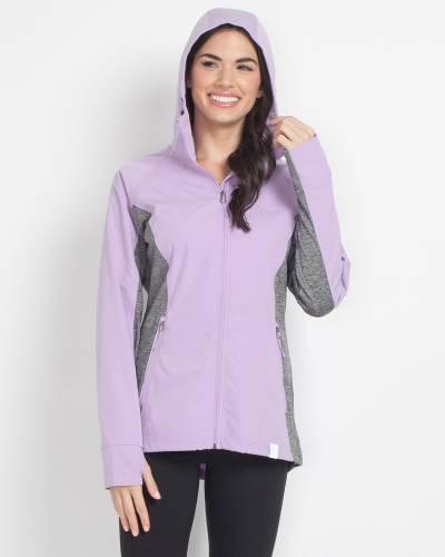 Hooded Windbreaker in Purple