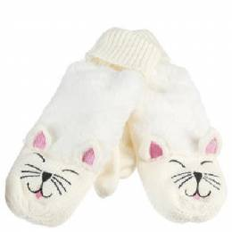 The Paper Store Cat Mittens in White